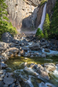 Lower Yosemite Falls up close